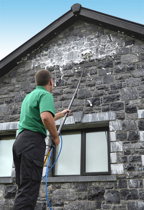 wall cleaning in county galway and county mayo outcide natural exterior cleaning